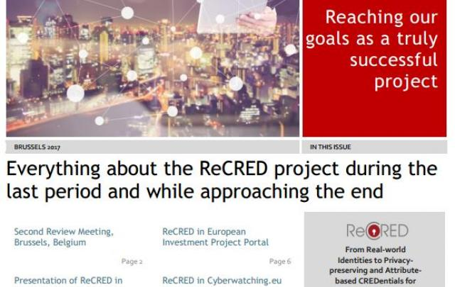 ReCRED's newsletter is available for download - Κεντρική Εικόνα