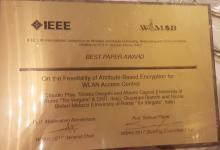 Presentation and best paper award at IEEE WiMob 2017 for CNIT - Κεντρική Εικόνα